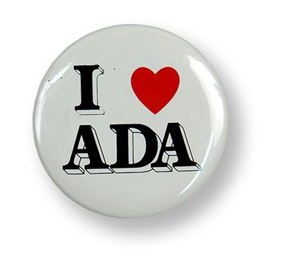 I Love ADA button