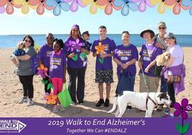The DAY contingent at the 2019 Walk to End Alzheimer's
